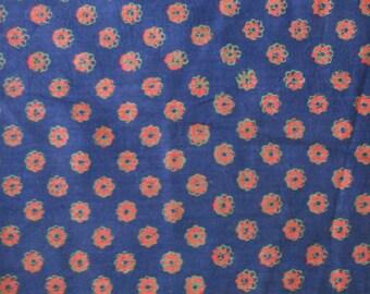 1960's Beautiful Hand Printed Textile - India