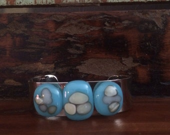 Blue Reactive Glass Bracelet