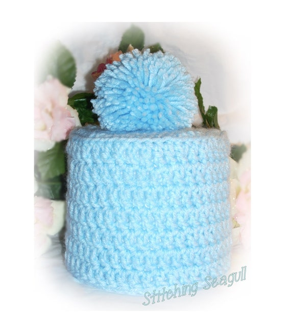 Custom Crochet Spare Toilet Paper Cover Tissue By