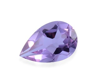 Lavender Alexite Synthetic Color Change Loose Gemstone Pear Cut 1A Quality 9x6mm TGW 1.10 cts.