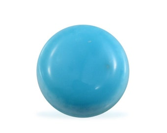 Sleeping Beauty Turquoise Round Cabochon Loose Gemstone Round 1A Quality 5mm TGW 0.35 cts.