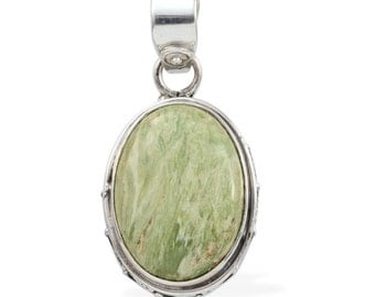 Utah Variscite Oval Cabochon Pendant without Chain in 925 Sterling Silver Nickel Free TGW 8.30 Cts.