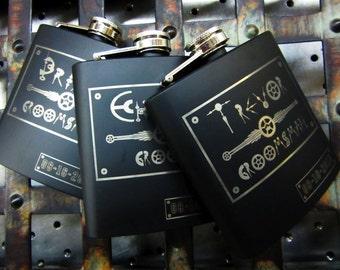 Set of 14 Unique Groomsmen Wedding Flask