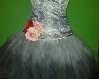 day of the dead corset tulle dress costume/cosplay size small