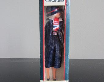 Vintage British Airways Stewardess Doll - In Box