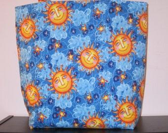 Large Reversible Sun/Moon Tote Bag