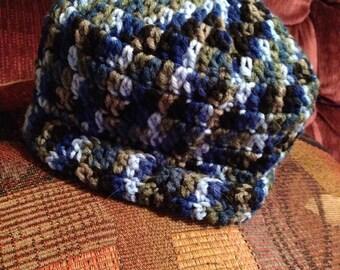 Blue Camouflage Beanie