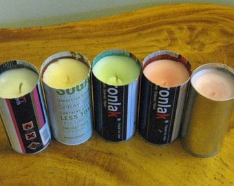 Upcycled Spray Paint Candles, 5.5 inch, Grafitti, Home Decor