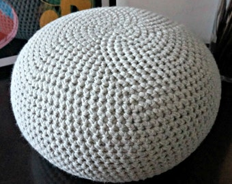 Crochet Bean Bag Tutorial : STUFFED XL Crochet Pouf in 30 COLORS, Poof, Ottoman ...