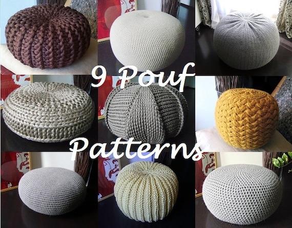 Crochet Pattern Knitting Pattern 9 Knitted Amp Crochet Pouf