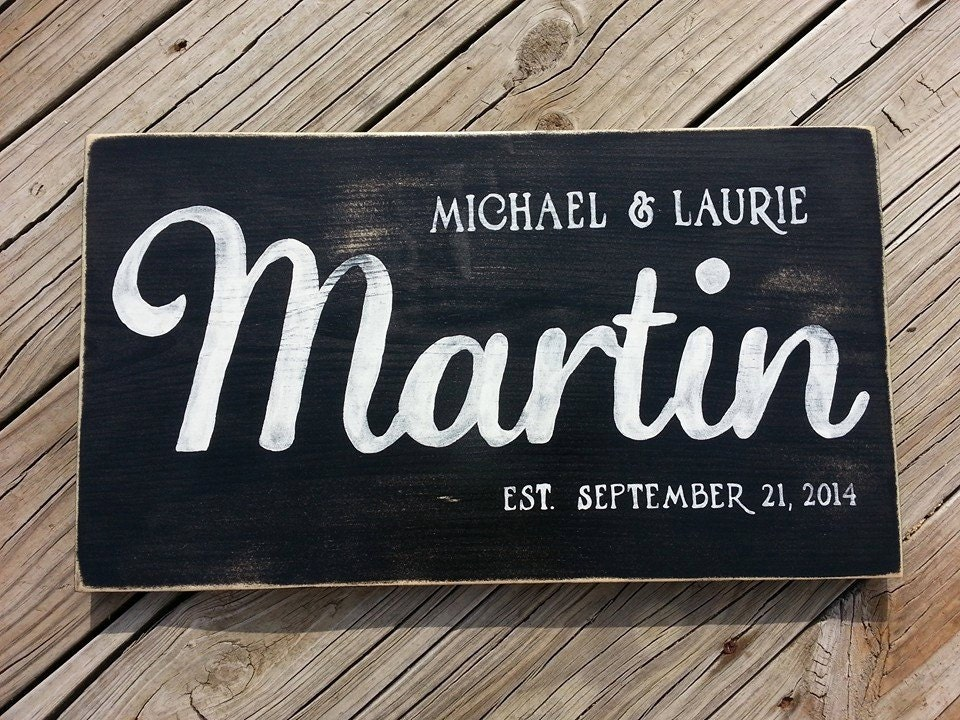 Wood Name Wall Decor : Last name wooden sign wood wall decor family
