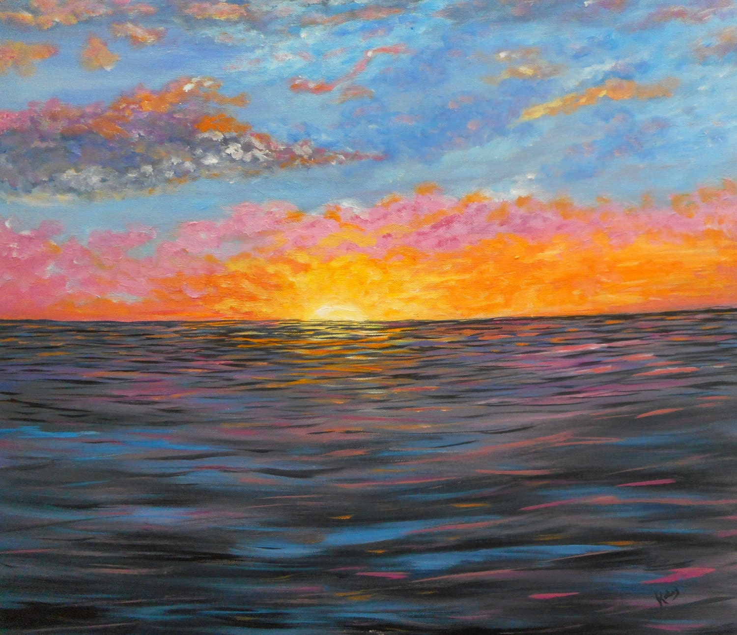 Canvas Art Bay Sunrise Fine Art Wall Art Ocean Art By
