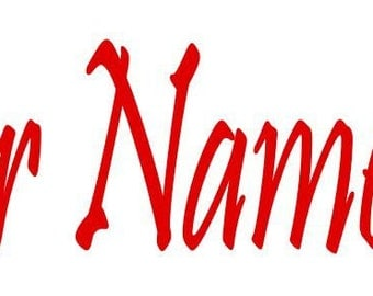 Custom Made ~Your Name with Heart Window Decal ~ Choose Decal Color