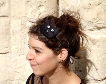 Headband felt wool Mathis black