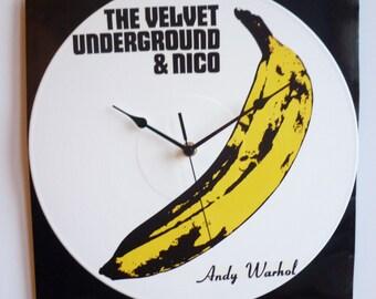 The Velvet Underground & Nico (1967) -  12″ Vinyl Record Wall Clock