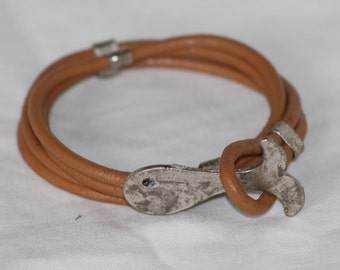 FREE SHIPPING.For women  leather bracelet.