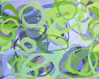 Green,Lavender,Abstract,Acrylic,Painting,24 x 48,large,original,contemporary,painting,chartreuse,modern,contemporary,horizontal,canvas,wall
