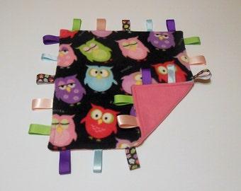 Baby Sensory Blanket, Security Blanket - Multi color Owls