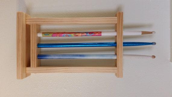 items similar to drum stick display drumstick holder holds 3 sticks wall mount version