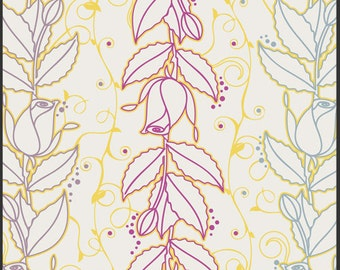 Spellbound Collection, Light Graphic Rose by Pat Bravo for Art Gallery Fabrics 6017