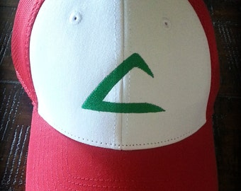 Pokemon Ash Ketchum inspired hat- New Era, embroidered, snap back Adult