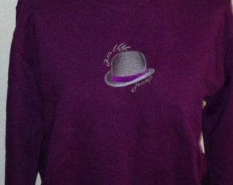 Embroidered Bowler Hat Sweatshirt