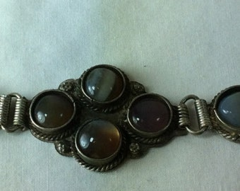 Vintage 1980's India Semiprecious Stone Bracelet