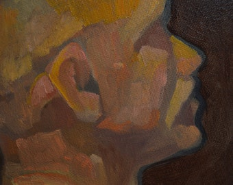The Reclined Figure    Life Study   Painting Oil on Canvas   16 x 16 inches