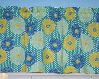 Handmade Springdale Blush  Green Blue  Yellow Turquoise Curtain Valance Valance