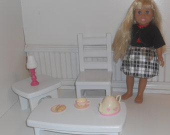 "Sofa/Cofee Table For 18 "" dolls like the American Girl"