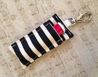chapstick holder - chapstick keychain - lip balm key chain