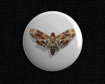 Death Moth pin back button