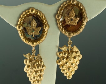 Gold Plated Fall Earrings