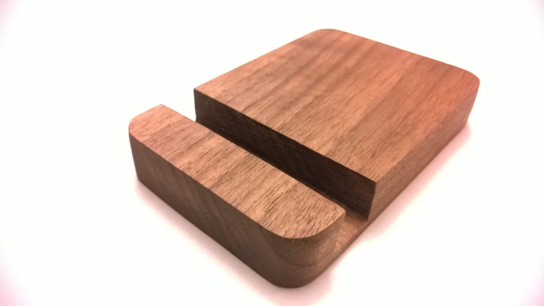 Wooden Walnut Iphone Desk Stand Iphone Dock Ipad Dock