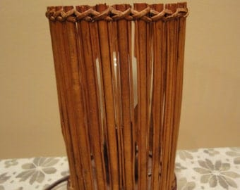 Bamboo Lighting/Table Light/Vintage Lighting