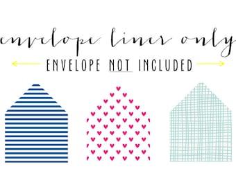 envelope liner only (envelope not included) - set of 10
