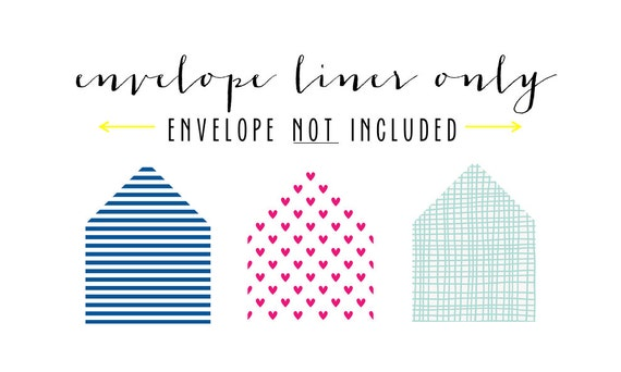 regular envelope liner only (envelope not included) - set of 10