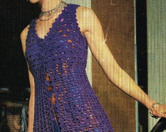 ladies long waistcoat   crochet summer wear  for ladies vintage pattern PDF instant download