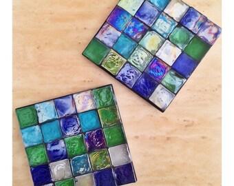 Glass Mosaic Coasters