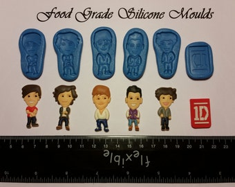 6 One 1 Direction Food Safe Super Flexible Silicone Mould / Mold