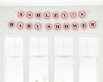 LIttle Cowgirl - Western Garland Banner - Custom Party Decorations