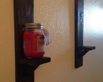 Rustic wall sconce set