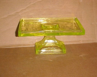 Vintage Teaberry Gum Vaseline Glass General Store Advertising Stand.