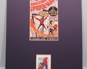 Marvel Comics Superheroes - Spiderman and the Fantastic Four and the Spiderman stamp