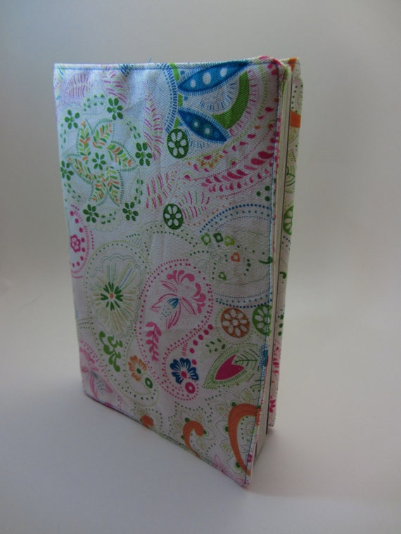 Multicolor Floral Paisley Adjustable Fabric Manga Book Cover