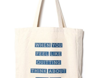 Why You Started - Canvas tote bag / Daily bag / Graphic design