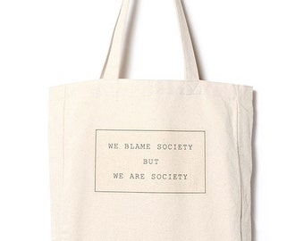 SOCIETY - Canvas tote bag / daily bag / graphic design