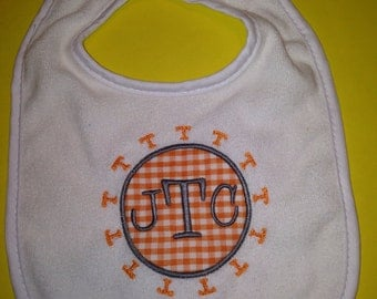 Tennessee Vol Power T Personalized Bodysuit / Toddler Shirt, Burp Cloth, Bib, Baby Boy Tennessee