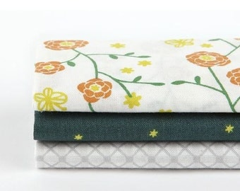 The Scent of Flower - Quarter Fabric Pack 3 Fabric 1 set - Sets for 3 each 45 X 55 cm