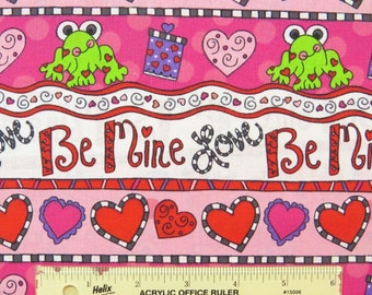 Cotton Fabric by the 1/4 Yard - Valentine Laura Kelly Love Be Mine Cotton